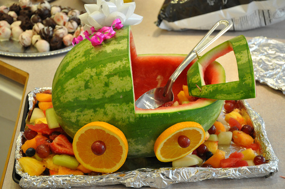 melon stroller at baby blessing