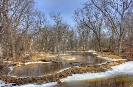 meltwater pond on the great river trail wisconsin