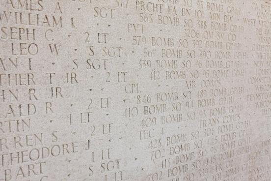 memorial wall text