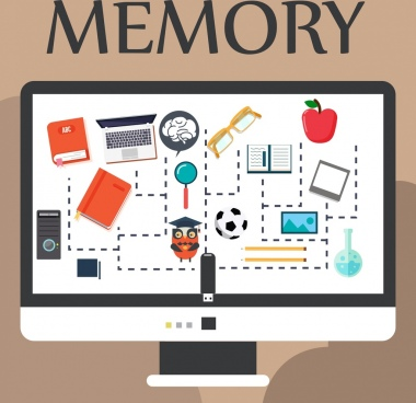 memory background computer screen objects icons decor