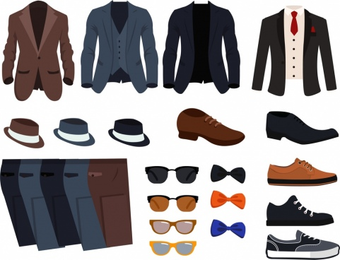 men fashion accessories icons elegant icons