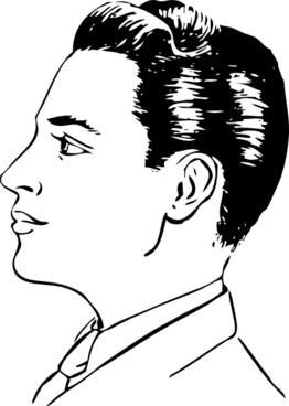 Men Haircut Side View clip art