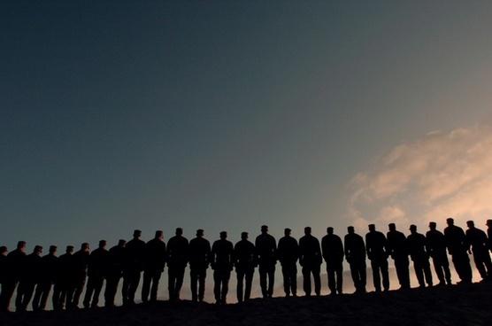 men military line