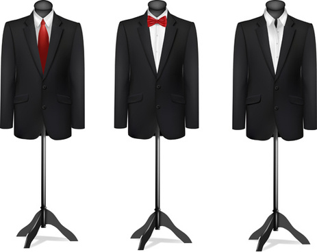 men suits design template vector