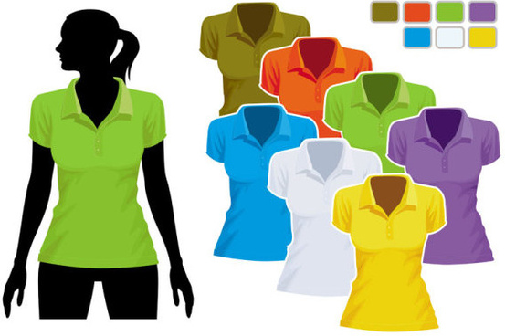 mens and womens clothing design elements vector