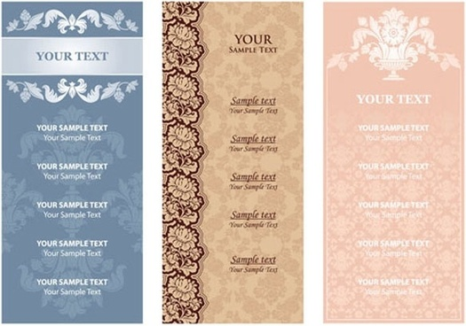 menu background pattern 01 vector