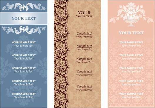 restaurant menu template classic vertical design elegant floral