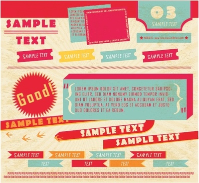 menu background vector abstract