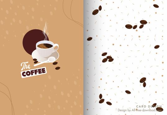 menu card template coffee cup beans decor