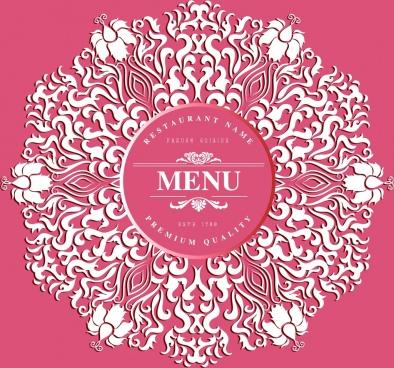 menu cover background pink decor classical curves