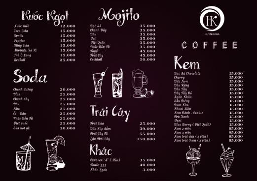 menu drink chocolate cmyk