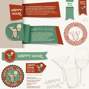 menu restaurant corporate identity and labels vector