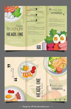 menu templates trifold design elegant classical cuisines sketch