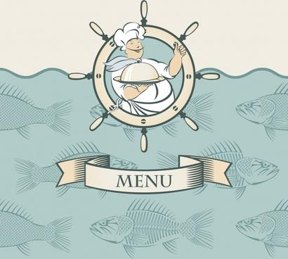menus cartoon silhouettes vector