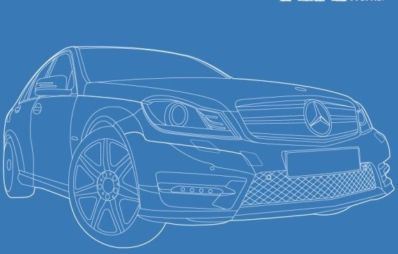 mercedes benz car creative design vector