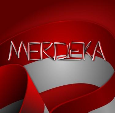 merdeka indonesia typography