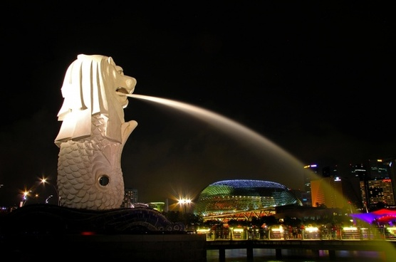 merlion singapore city