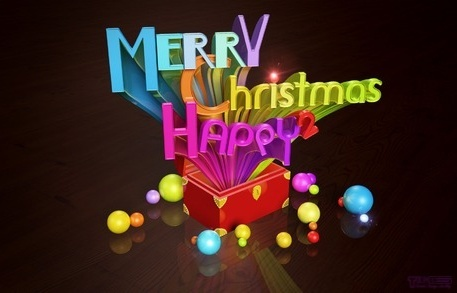 merry christmas 3d words psd layered