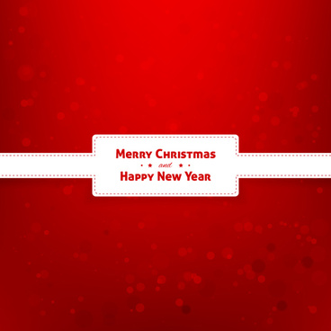merry christmas and happy new year frame red background