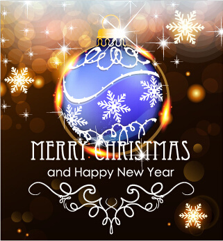 Merry christmas and happy new year free vector download 13422 free merry christmas and new year greeting cards vectors m4hsunfo
