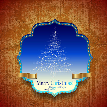 merry christmas frame grunge background