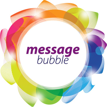 message bubble vector graphic