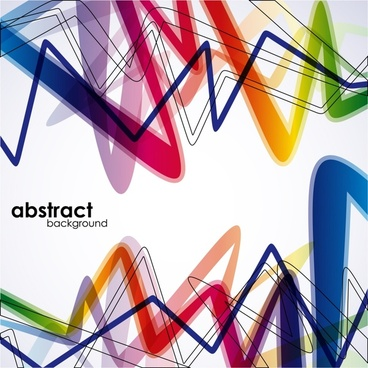 abstract background colorful dynamic messy lines decor