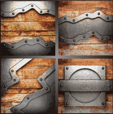 metal art pattern vector background