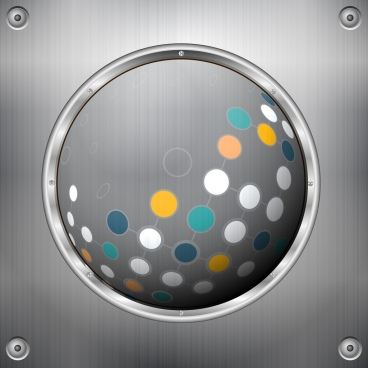metal background shiny round icon colorful circles decor