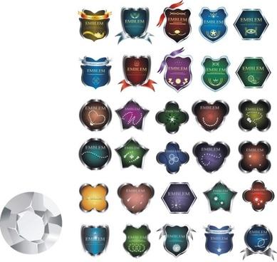 metal badge clip art