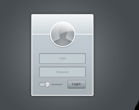 Metal Grey Login Form