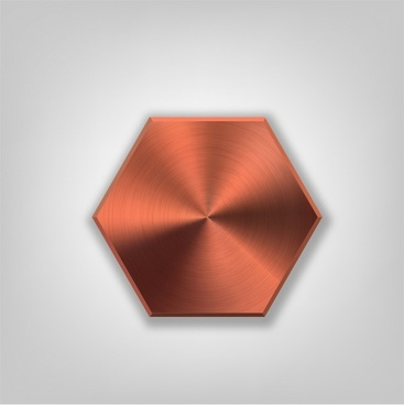Metal hexagon button