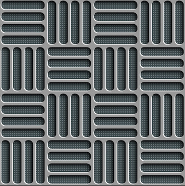 metal perforated seamless vector pattern
