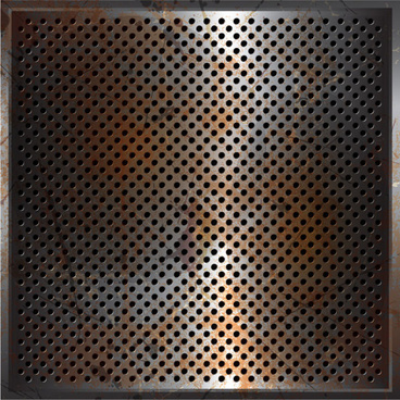 metal perforated vector background