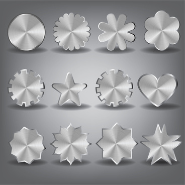 metal shape design element set