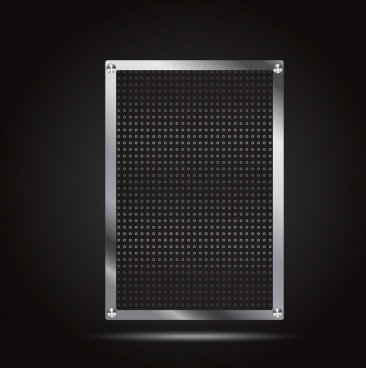 metal sheet background shiny monochrome holes decoration