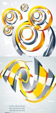 metal swirl vector