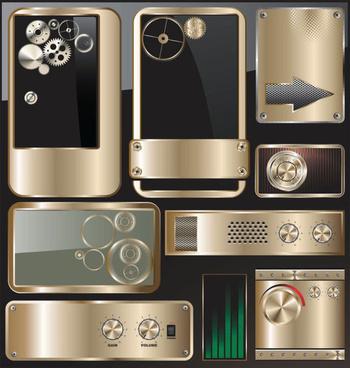 metal technology design elements vector