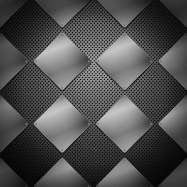metal background squares design shiny grey design