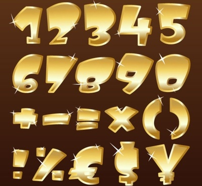 metal texture font design 01 vector