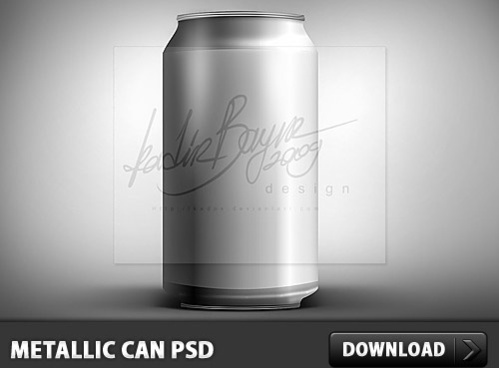 Metallic Can PSD