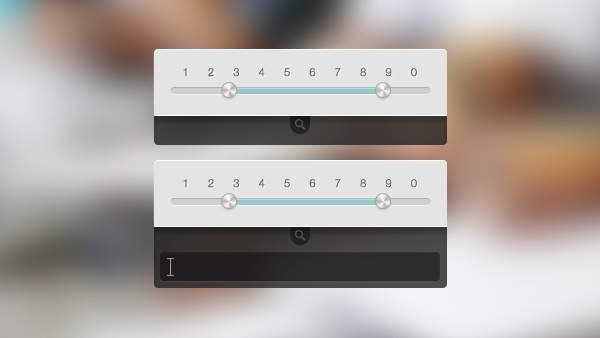 Metallic Slider & Dropdown PSD