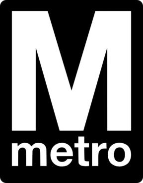 Metro Logo clip art
