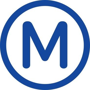 Metro M Clip Art