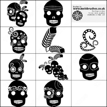 mexican skull brush
