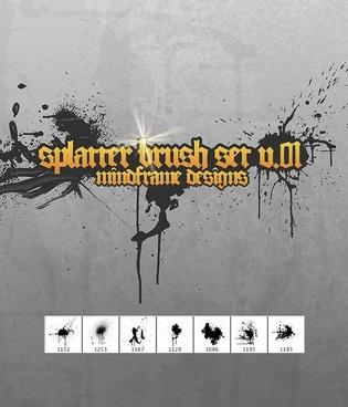 MF Splatter Brush Pack v.01