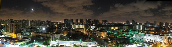 miami panorama at night