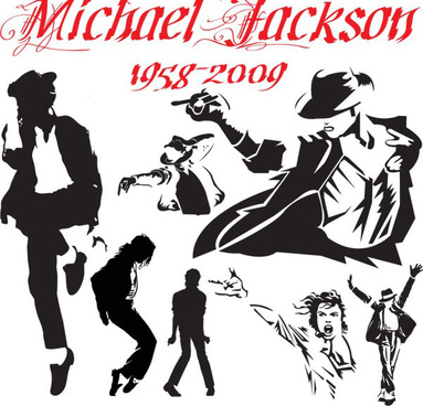 michael jackson action vector