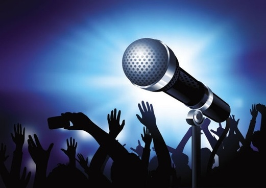 microphone bright background 02 vector