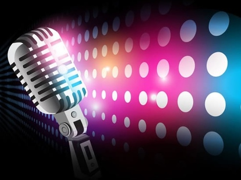 microphone ray halo vector